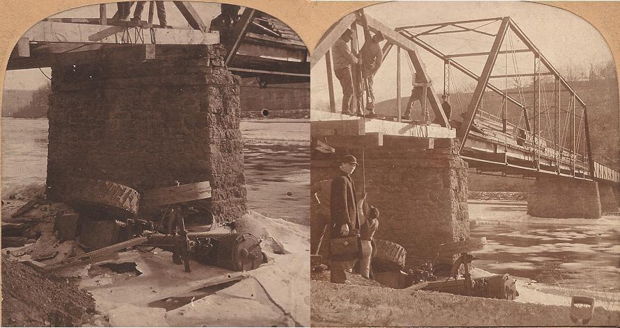 Accident on Lone Rock Bridge - 1905