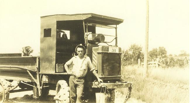 County Worker and his Richland County Highway Truck